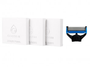 12 Shaving Cartridges Face Black/Blue