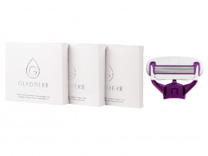 12 Shaving Cartridges Body Violet/White